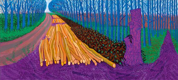 David Hockney: Winter Timber