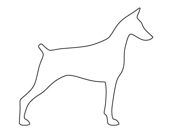 templates for wood cutouts - doberman pattern use the printable outline for crafts