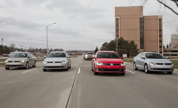 We compare four Volkswagen Jettas to find out which powertrain solution reigns supreme. It's hybrid against diesel, gas, and turbocharged GLI. Read the test at Car and Driver.