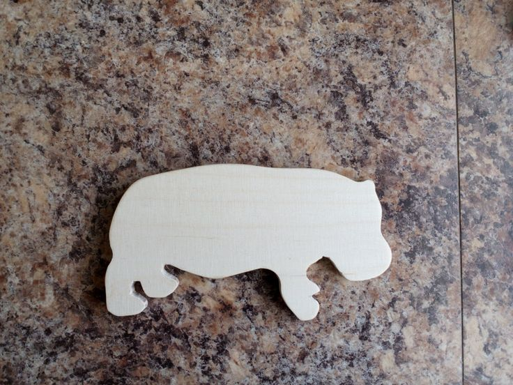 plywood kid toy animal hippopotamus by SoulIdeas on Etsy