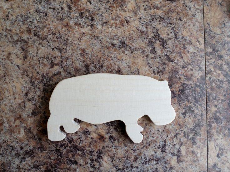 plywood kid toy animal hippopotamus by SoulIdeas on Etsy