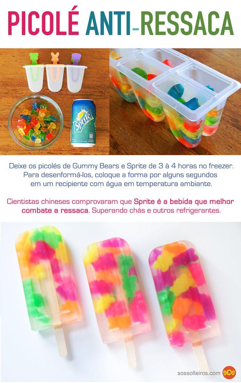 Picolé de gummy bears