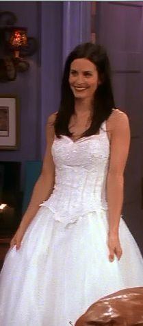 Monica Geller Wedding Dress Wedding Dress Decore Ideas
