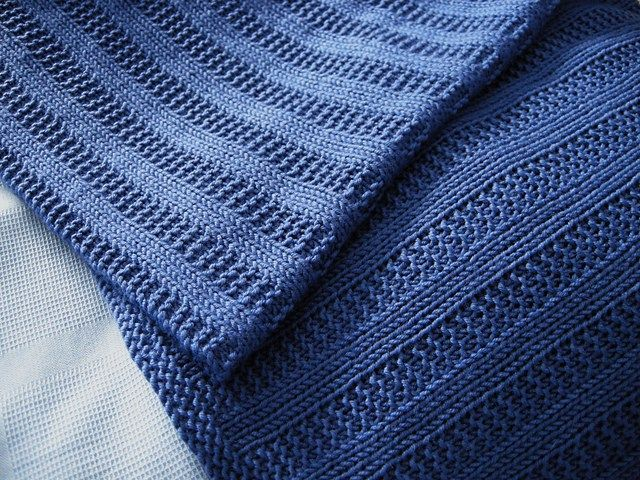 Free knitting pattern for Garter Rib Baby Blanket and more baby blanket knitting patterns