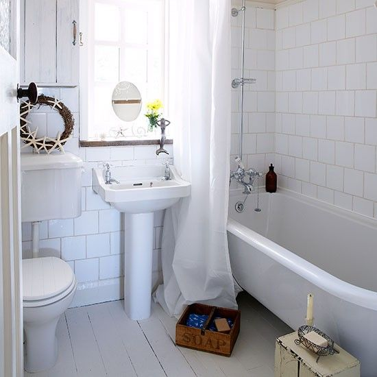 Panelled bathroom | Small bathroom ideas | housetohome.co.uk