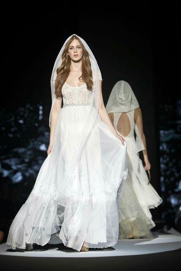 Ball Gown dress / Wedding dress / Jana Gavalcova fashion designer / runway