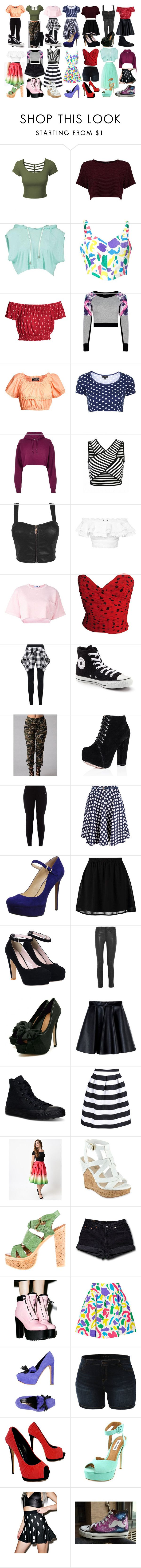 """""""Outfit Ideas"""" by brigesino on Polyvore featuring LE3NO, Moschino, Pilot, Topshop, River Island, Alexander McQueen, Steve J & Yoni P, Converse, New Look and Closet"""