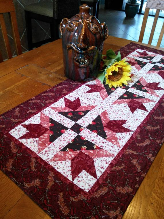 Quilted Civil War Era Reproduction Tablerunner By QuiltedbyTommyD