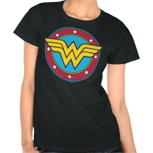 Wonder Woman Circle & Stars Logo T Shirts
