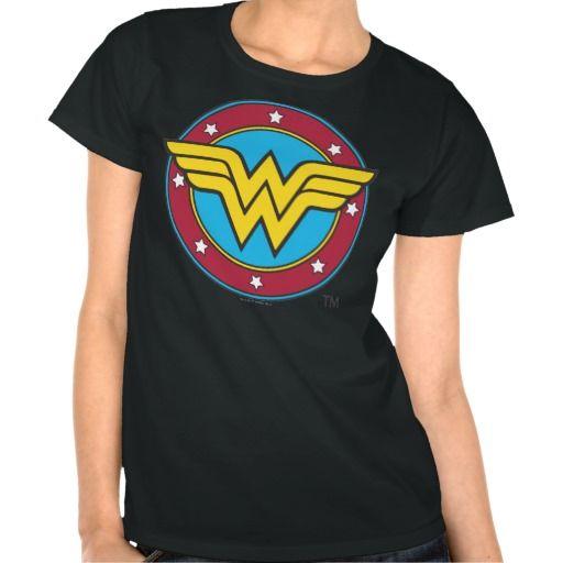 Wonder Woman Circle & Stars Logo T Shirts