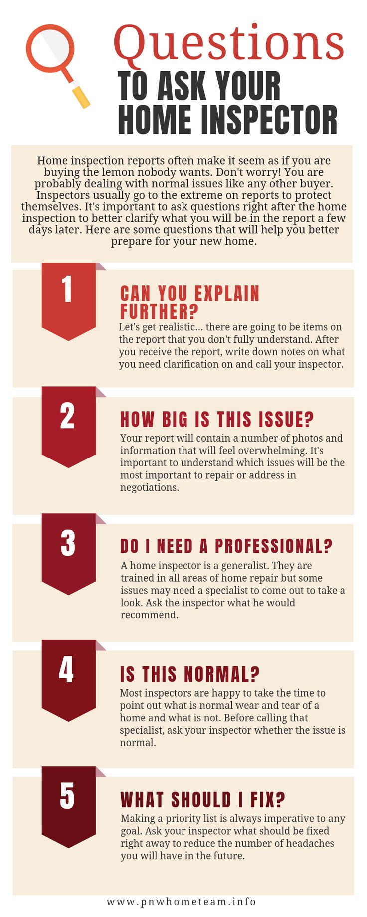 Questions to Ask Your Home Inspector realestate realtor