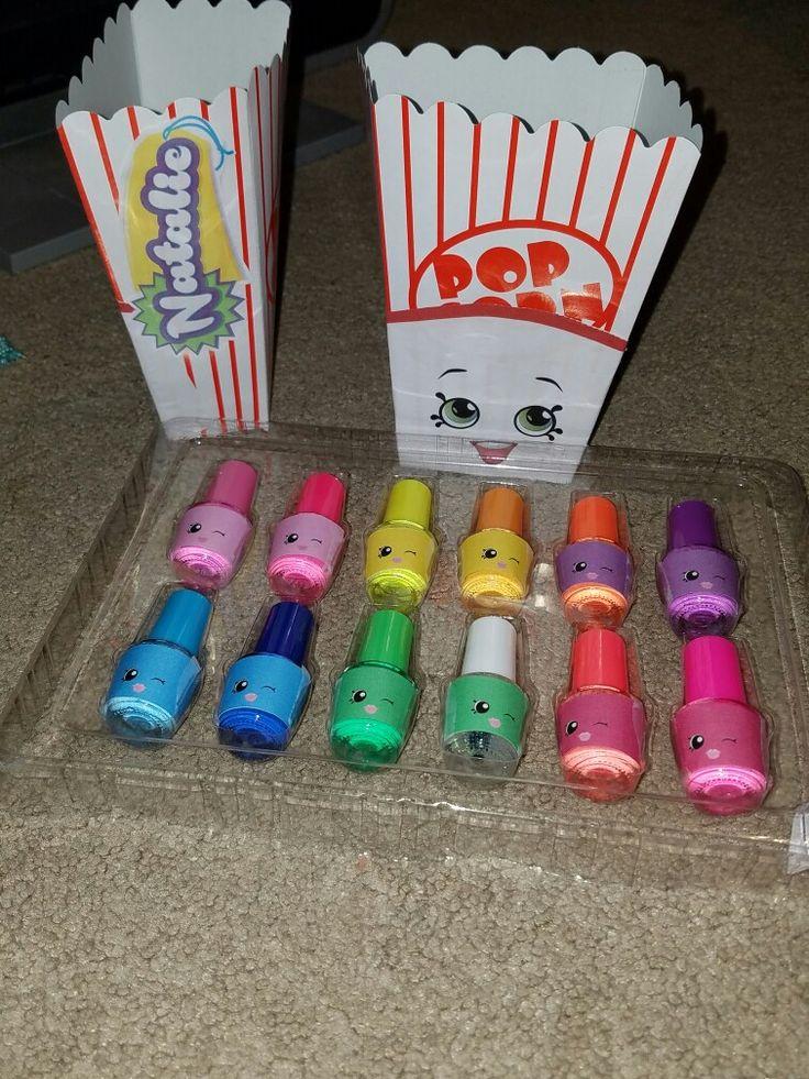 Polly polish nail Polish favor with poppy popcorn goody