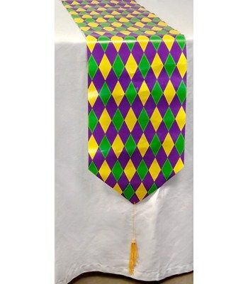 72″ Printed Mardi Gras Table Runner