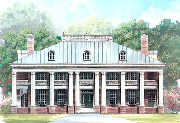 Colonial Greek Revival Plantation House Plan 72149 House Plans Cars