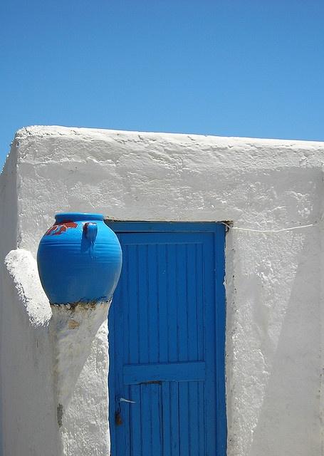 """old house entrance, mykonos"" #doors"