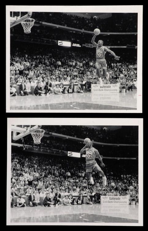 Michael Jordan's free throw line dunk