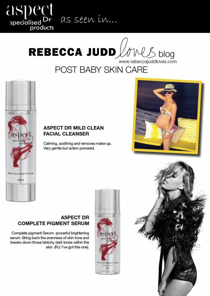 Rebecca Judd recommends: Aspect Dr for post pregnancy skin care    http://www.meclinic.com/