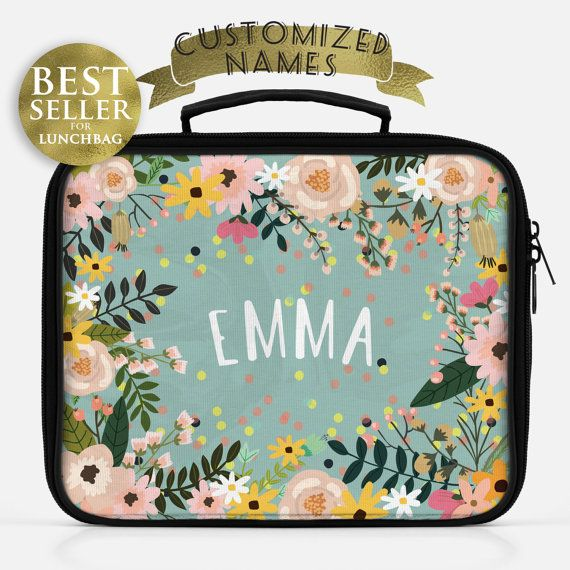 Lunch box  Monogrammed gifts  Personalized lunch box  by HelloAm
