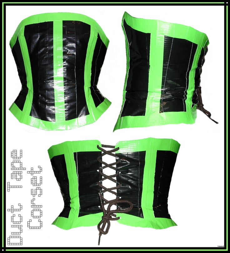 Green n Black Duct Tape Corset by Tweenie188.deviantart.com on @deviantART