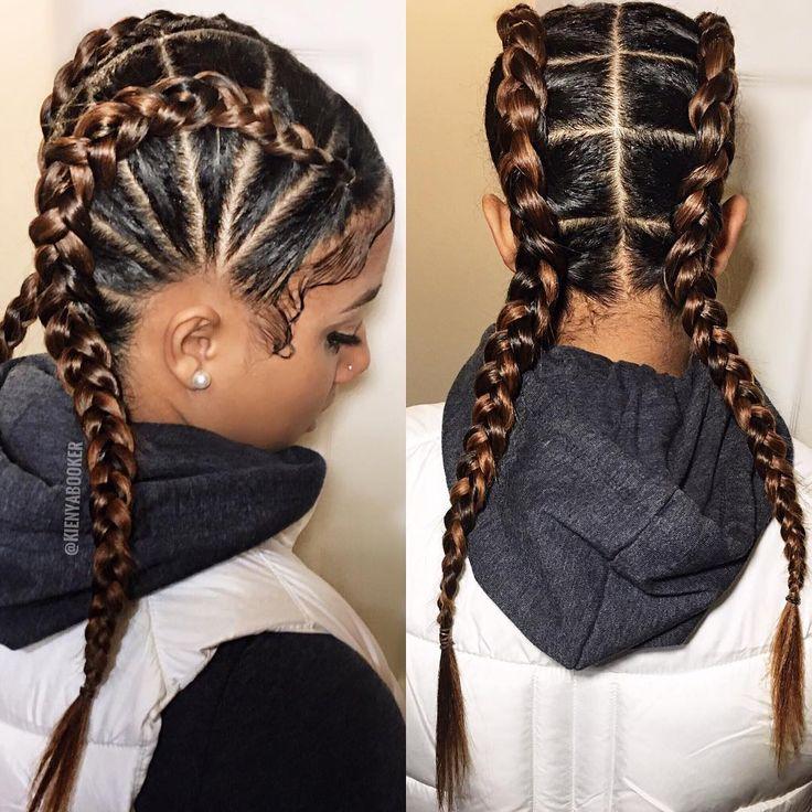 Best 25+ 2 cornrow braids ideas on Pinterest