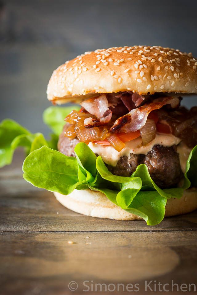 Dude Food Tuesday : Beer braised onions on top of your burger @FoodBlogs