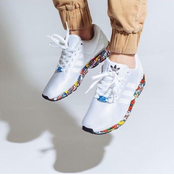 shoes adidas sneakers white colorful running shoes trainers gym workout workout shoes