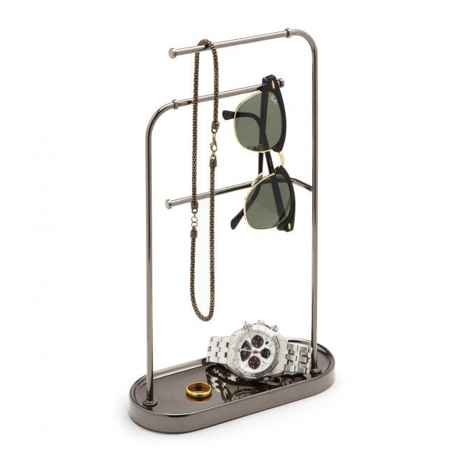 Store your jewllery and accessories on the Umbra Hi Bar Metall Organizer.
