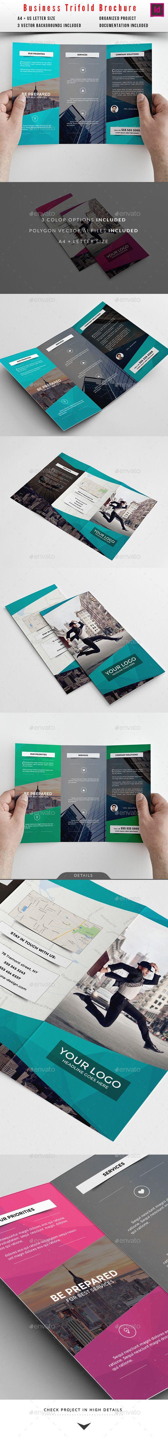 Business Trifold Brochure Template #design Download: http://graphicriver.net/item/business-trifold-brochure/10413512?ref=ksioks