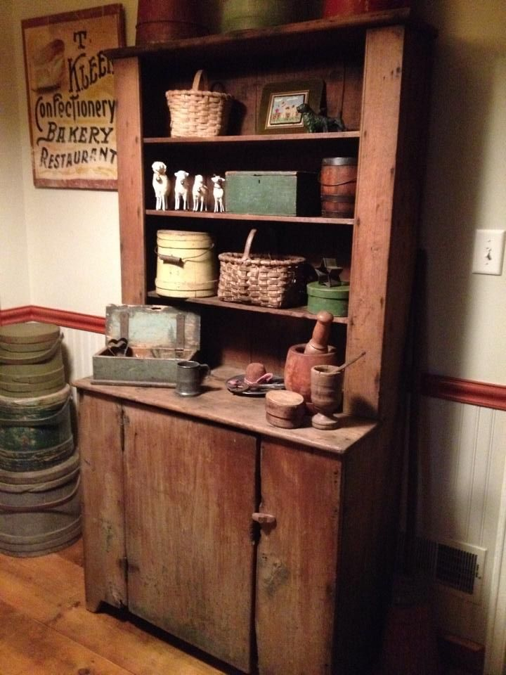Wonderful early cupboard in the home of Pat and Cindy