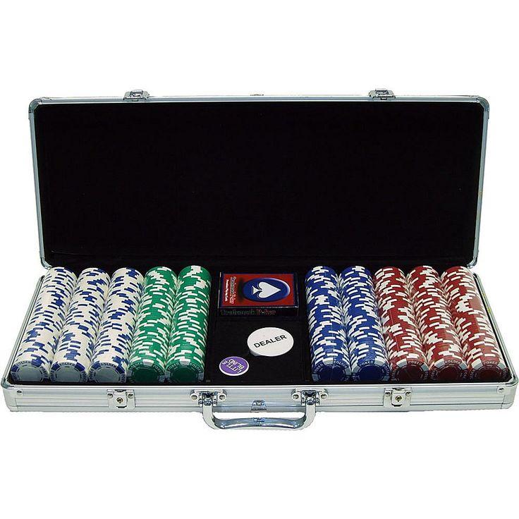 Trademark Global, Inc. 500 11.5 Gram Hold 'em Poker Chip Set with Aluminum Case