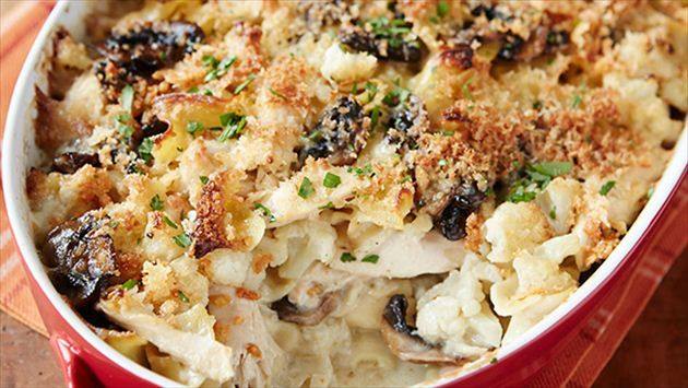 Get this all-star, easy-to-follow Chicken Tetrazzini Casserole with Cauliflower recipe from Rachael Ray