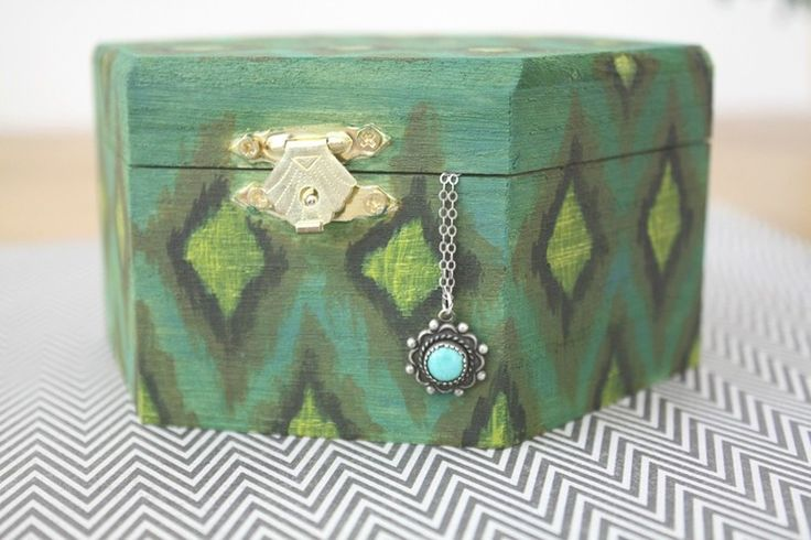 make a jewelry box - I love the Ikat in these colors for Boo's (eclectic) safari