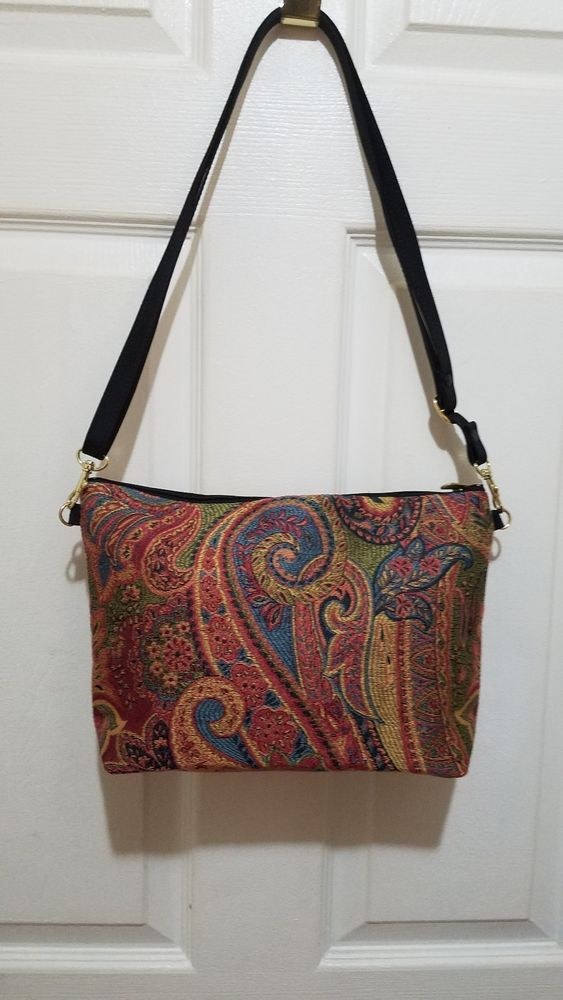 53e0452d7c Danny K Beverly Hills Red Floral Tapestry Shoulder Handbag Bag Small EXC   fashion  clothing  shoes  accessories  womensbagshandbags (ebay link)