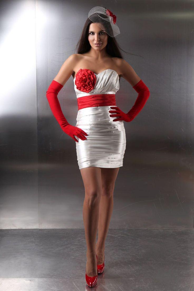 Hochzeitskleid weiß rot - Hochzeitskleid12 - #Hochzeitskleid