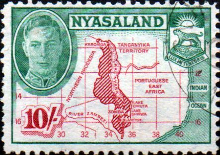 Nyasaland 1945 Map SG 156 Fine Used SG 156 Scott 78 Condition Fine Used Only one post charge applied on multipl purchases Details King George VI N B