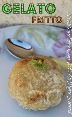 Gelato fritto ricetta Benedetta Parodi :piacevole contrasto tra la calda e croccante pastella esterna e l'interno fresco e cremoso del gelato.Dessert cinese