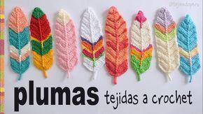 Este fue un pedido que nos hicieron: ¡plumas tejidas a crochet!  Las hicimos reversibles: el centro en relieve de la pluma se ve igual de ambos lados. De es...