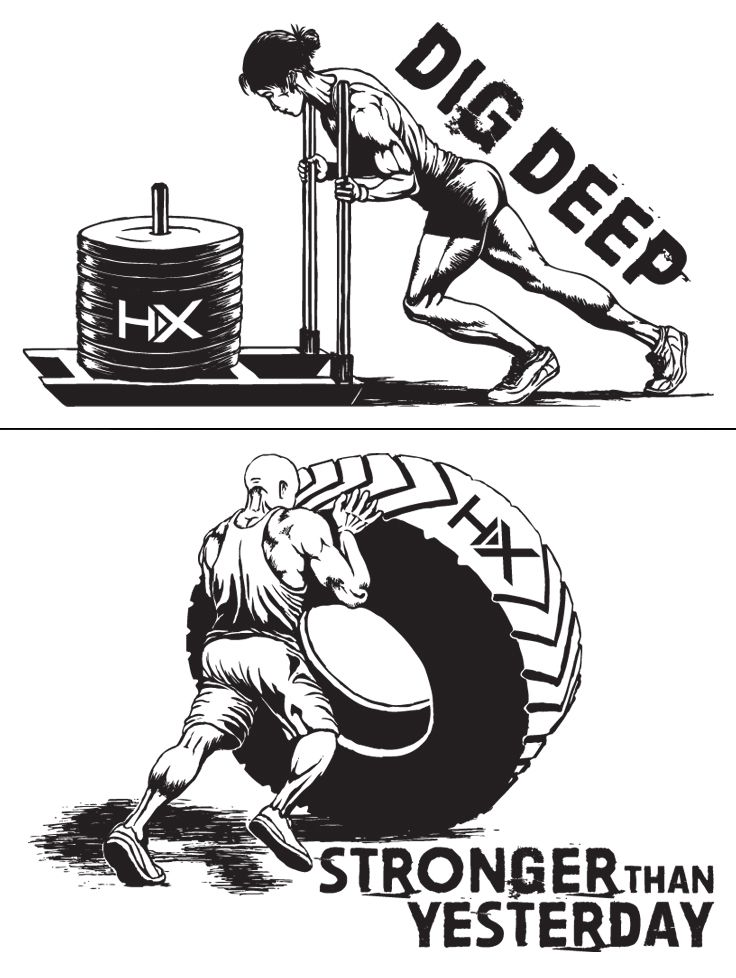 HumanX by Harbinger Fitness   Illustrations for HumanX t-shirts   by designthis!