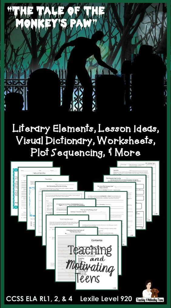 Engaging CCSS lessons for middle school and high school ELA! Engaging and haunting classical short story lesson packet. Contains: Anticipatory sheet. Visual dictionary. Sequence organizer. Analysis worksheet - 20+ questions focused on the elements of fiction. Multi-learning styles. This attractive 30-question post-reading reflection can be used for individual assessment or in a small group. CCSS ELA. Short stories, junior high, secondary, classic literature lesson materials.