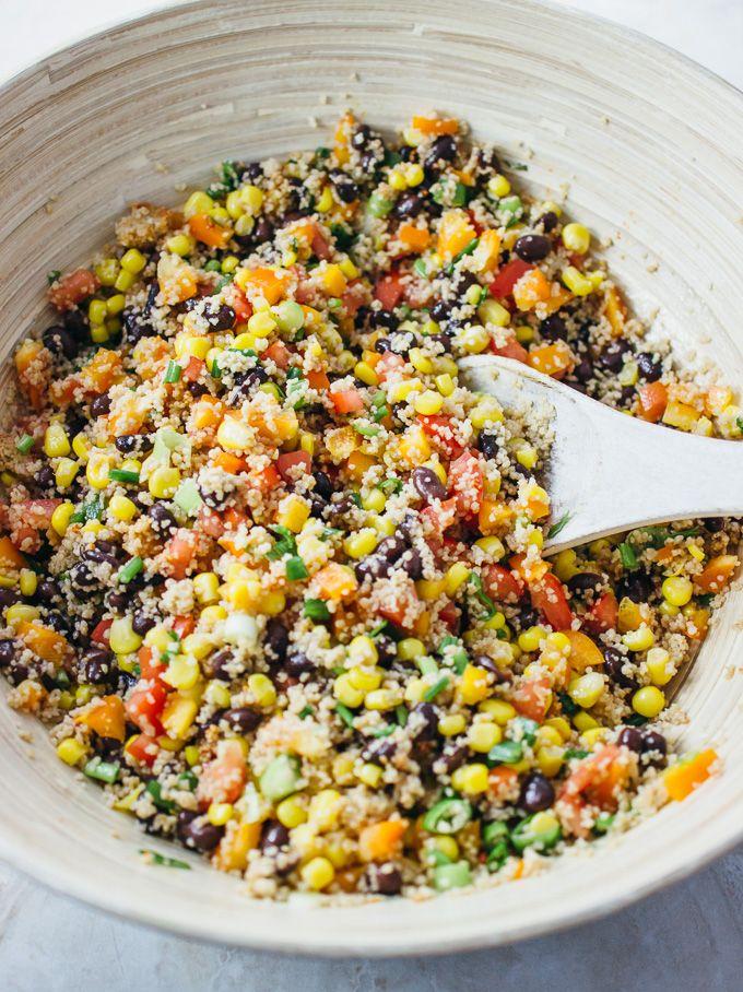 Savory southwest cous cous salad