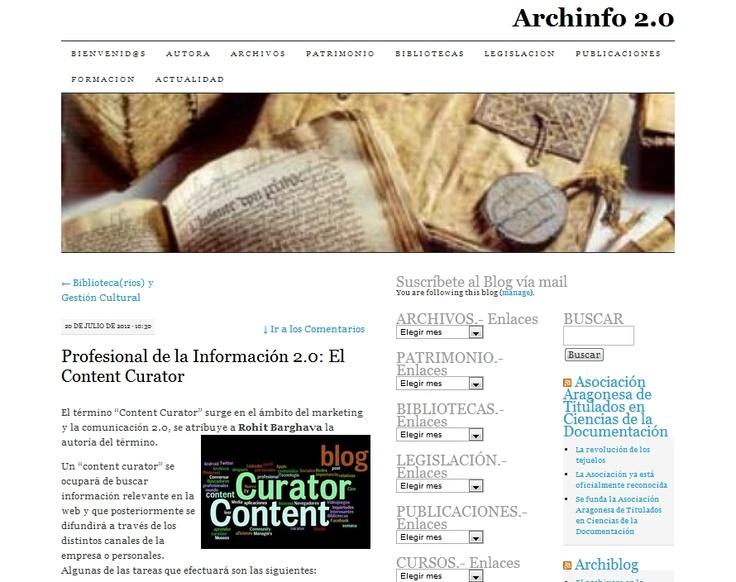 Archinfo 2.0: Archinfo 2 0, Http Elcontentcurator Com, Blog