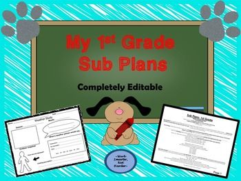 Purchase, plan, and print for an emergency or absence***fully editable to fit YOUR specific classroom needs***easy materials list ***engaging worksheets***great technology links***alternatives to technology included ***class forms for easy organization***scripted plans for easy use in ELA, Math, and Science/Social Studies- phonics blending activities, phonemic awareness, journal writing prompts, partner reading, DEAR- drop everything and independently read, math- fact fluency ...