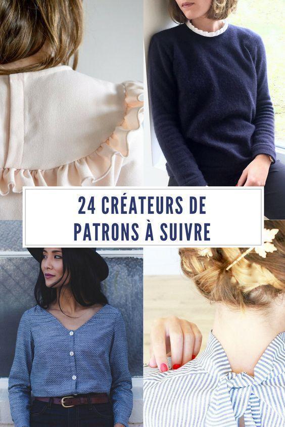 24 créateurs de patrons à suivre / patrons de couture