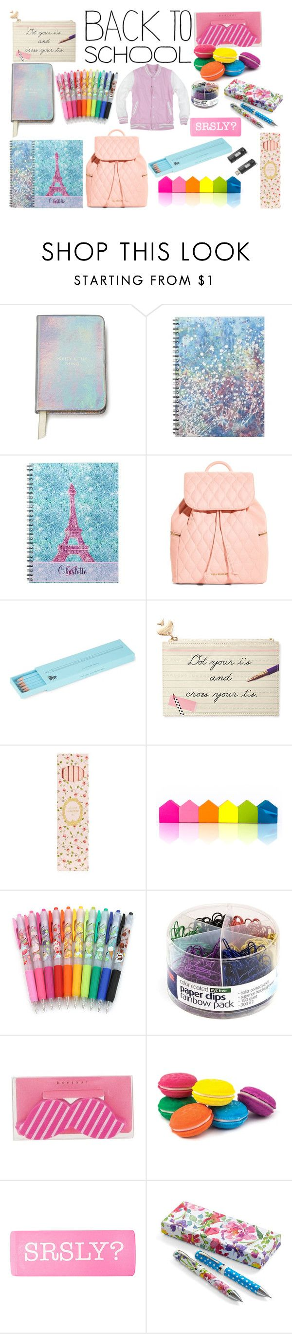 """Back to school supplies"" by zoe-keredy ❤ liked on Polyvore featuring interior, interiors, interior design, home, home decor, interior decorating, Kate Spade, Vera Bradley, Polite and Ladurée"
