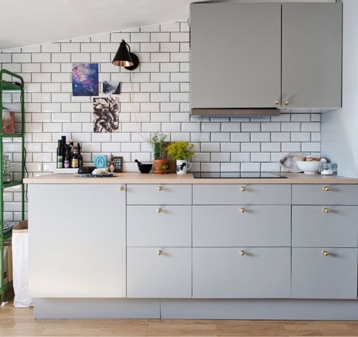 22 best images about kök on Pinterest  Grey cabinets, Grey and White ...