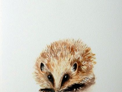 *Hedgehog - a spring beastie giclee print