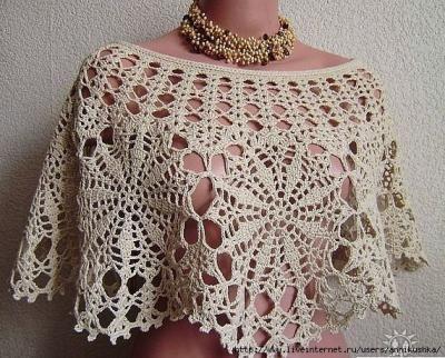 Crochet poncho, some charts...