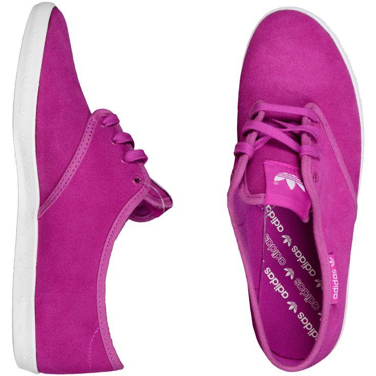 Adidas Shoe Womens Adria Ps W Mujeres La Zapatilla De Deporte Baja Púrpura blanco