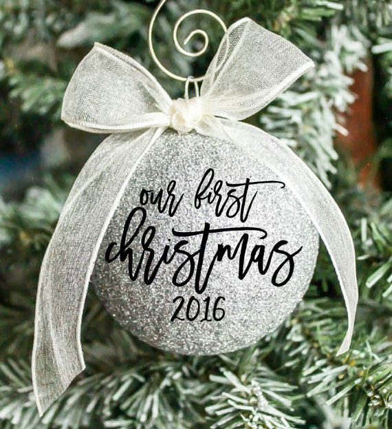 Our First Christmas Ornament Just Married by EllaJayDesign on Etsy