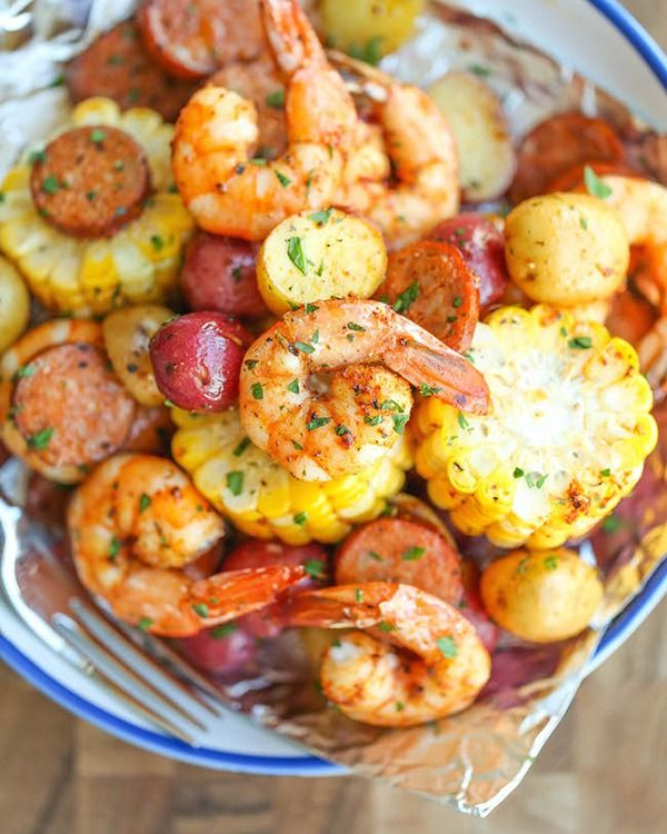 Shrimp Boil Foil Packets - When it comes to protein-rich foods, shrimp is the alpha: each gram of meat packs a whopping 25 percent protein. Not to mention it's also an excellent source of antioxidant-rich selenium, which is key to a healthy metabolism and radiant skin. And that's not all. The tiny fish also boasts 80 percent of your daily vitamin B12 quota, which plays a key role in nervous system function and helps your body metabolize proteins and fats.